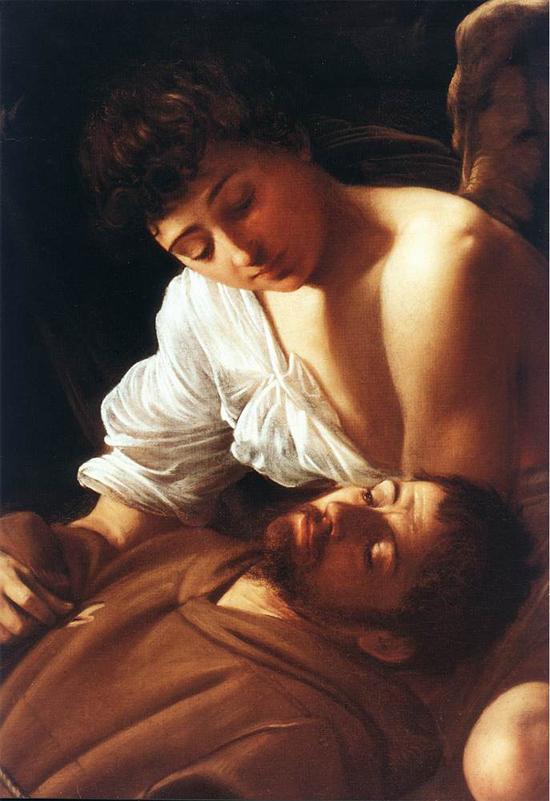 """1595 Меризи да Караваджо """"Святой Франциск в блаженстве (фрагмент)."""""""