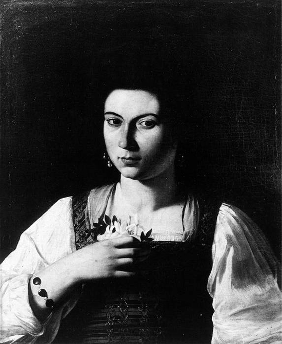 "1598 Меризи да Караваджо ""Портрет куртизанки."""