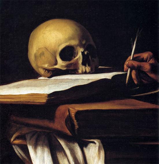"""1606 Меризи да Караваджо """"Св. Иероним (фрагмент)."""""""
