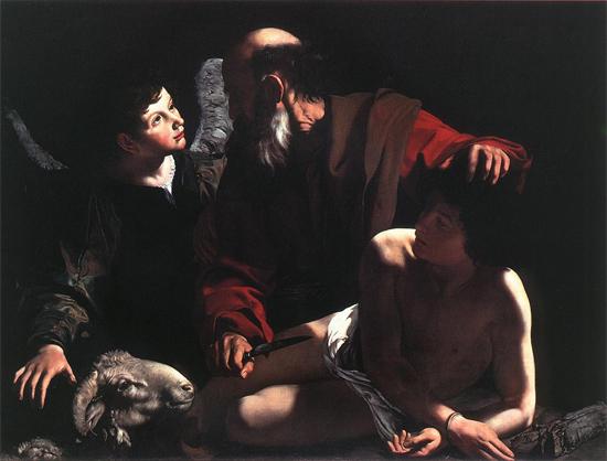 """1605 Меризи да Караваджо """"Жертвоприношение Исаака."""""""