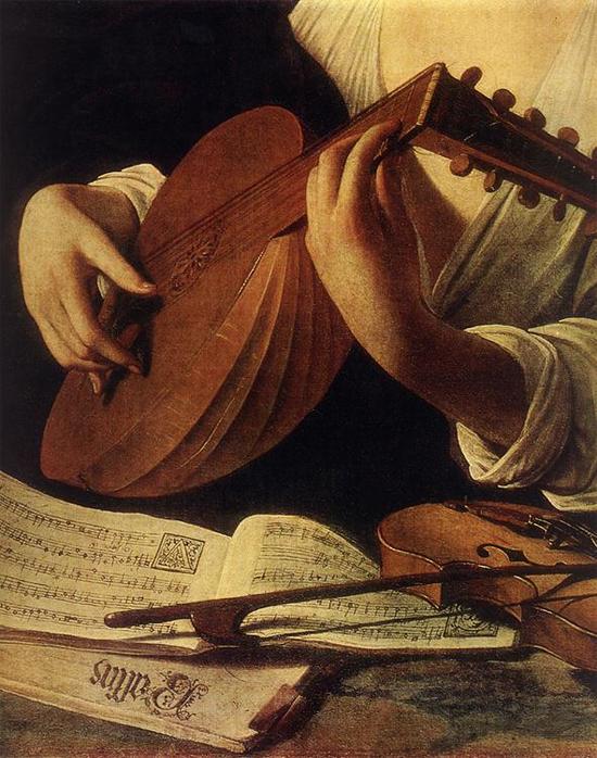 "1596 Меризи да Караваджо ""Лютнист (фрагмент)."""