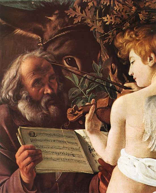 """1597 Меризи да Караваджо """"Отдых на пути в Египет (фрагмент)"""""""