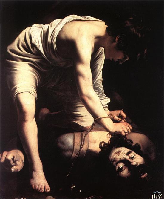 """1600 Меризи да Караваджо """"Давид."""""""