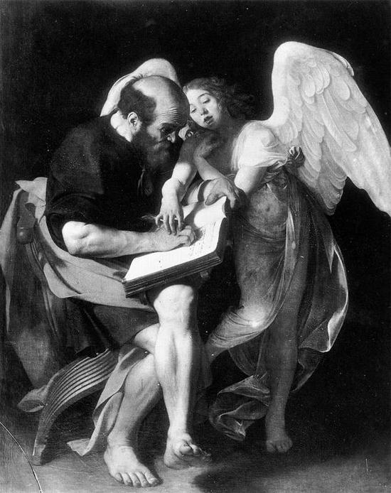"""1602 Меризи да Караваджо """"Святой Матфей и ангел."""""""